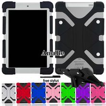 Solid Tablet Case Silicone Stand Cover Case for Alcatel 1T 10/3T 10/A3/Alcatel Plus 10 Tablet+ Stylus Protective Shell(China)