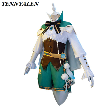 2020 New Game Genshin Impact Cosplay Anime Wig Accessories Project VENTI Costume Women's Cloak Shirt Pants  Socks Lolita Shoes 2