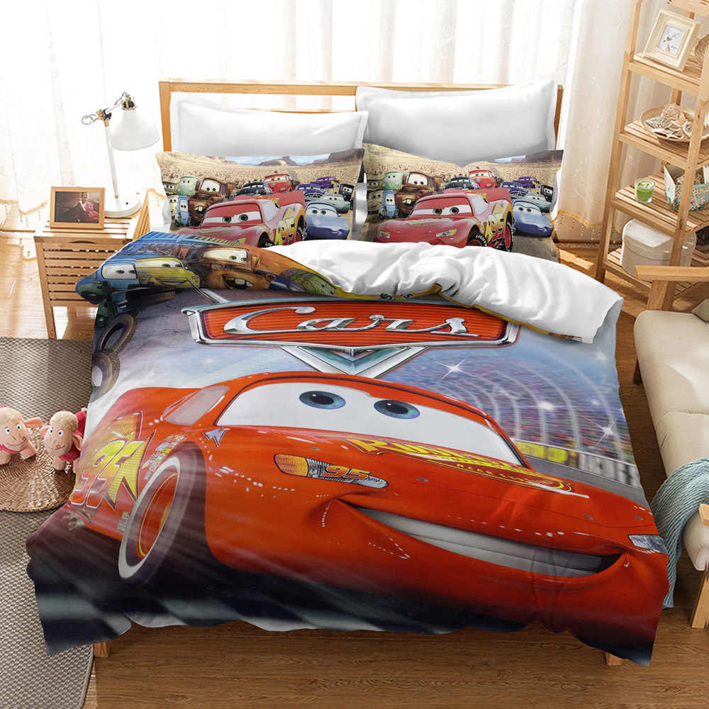 Disney Mcqueen Cars Bedding Set Duvet Covers Single Twin Size Bedroom Decoration Boy Children S Babies Bed 2 3 Pieces Purple Red Bedding Sets Aliexpress