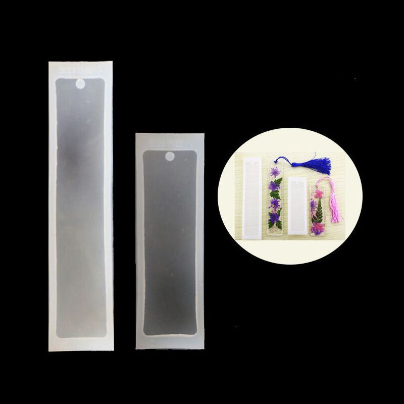 2Pcs Rectangle Silicone Bookmark Molds Epoxy Resin Jewelry Silicone Molds Kit