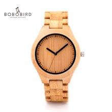 בובו ציפור עץ שעון גברים relogio masculino שעונים יפן Movt 2035 קוורץ שעונים מיוחד עבור זרוק חינם