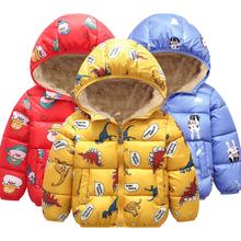 Kurtka dla chłopców 2020 jesień kurtki zimowe dla chłopców dinozaur płaszcz dzieci ciepłe kurtki płaszcze dla dziewczynek kurtka dzieci ubrania tanie tanio KEAIYOUHUO Moda Poliester COTTON Cartoon REGULAR Z kapturem Kurtki płaszcze Pełna Pasuje prawda na wymiar weź swój normalny rozmiar