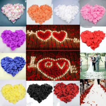 100PCS Rose Artificial Flower Bride To Get Married Decoration Petal Table Flower Bachelor Party Proposal Romantic Decoration image
