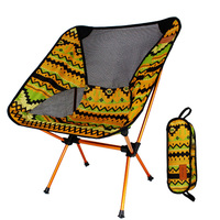 Folding Chair Picnic Hiking Ultra Light Beach Stool Seat Aluminium Alloy Compact Portable BBQ Outdoor Camping Colorful Print