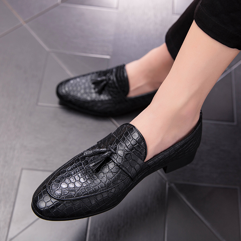 Youki/брендовая мужская обувь; Мужская обувь без застежки на плоской подошве; черная, винно красная Молодежная повседневная обувь для мужчин; ... - 5