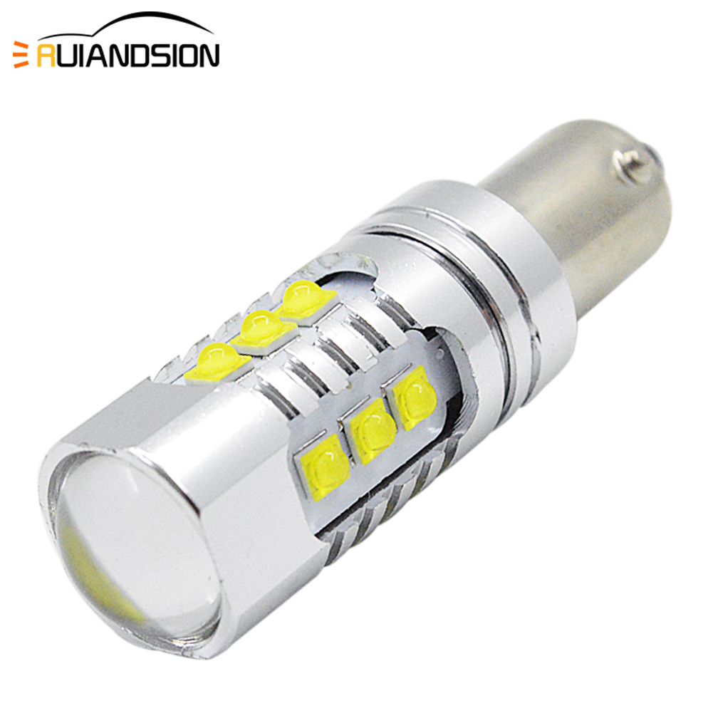 H6W 434 BAX9S CANBUS ERROR FREE LED 27SMD Sidelight Bulbs SUPER WHITE XENON LOOK