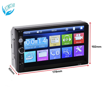Media MP5 Car Player 7010b User Manual Video Output Touch Screen SD Card 7 Inch 2 Din image