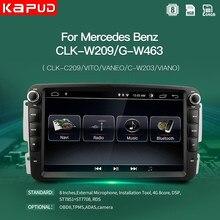 Kapud Android 10 радио обоих концах для подключения внешних устройств к автомобильной мультимедийный плеер для Mercedes Benz W203 Вито W639 W168 VaneoCLK W209 W210M/мл ...