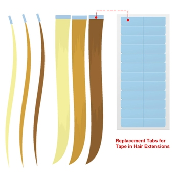 Double Sided Adhesive Tape Lace Front Waterproof Replacement Tape For Tape In Hair Extensions Adhesives Blue Tape Tabs  Strips hiart replacement tape for lace front wig toupee tape hair extensions strong adhesives blue tape tabs double sided adhesive