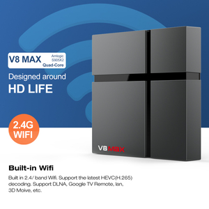 Image 3 - V8 Max akıllı Android 8.1 TV kutusu 4GB RAM 32GB 64GB Amlogic S905X2 LPDDR3 Wifi kablosuz Set top Box 4K HD YouTube 2GB16G Ott TVBox