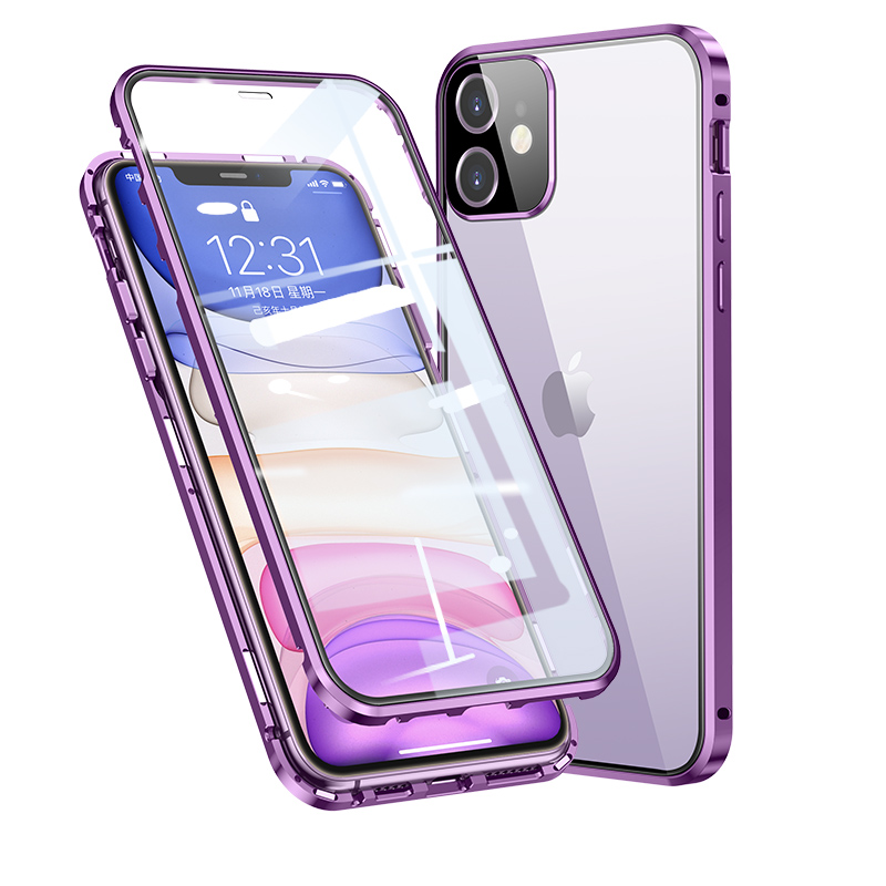 Metal Magnetic Case for iphone 11 case Bumper Glass Camera protection for iphone 11 pro max case cover coque fundas shell cases