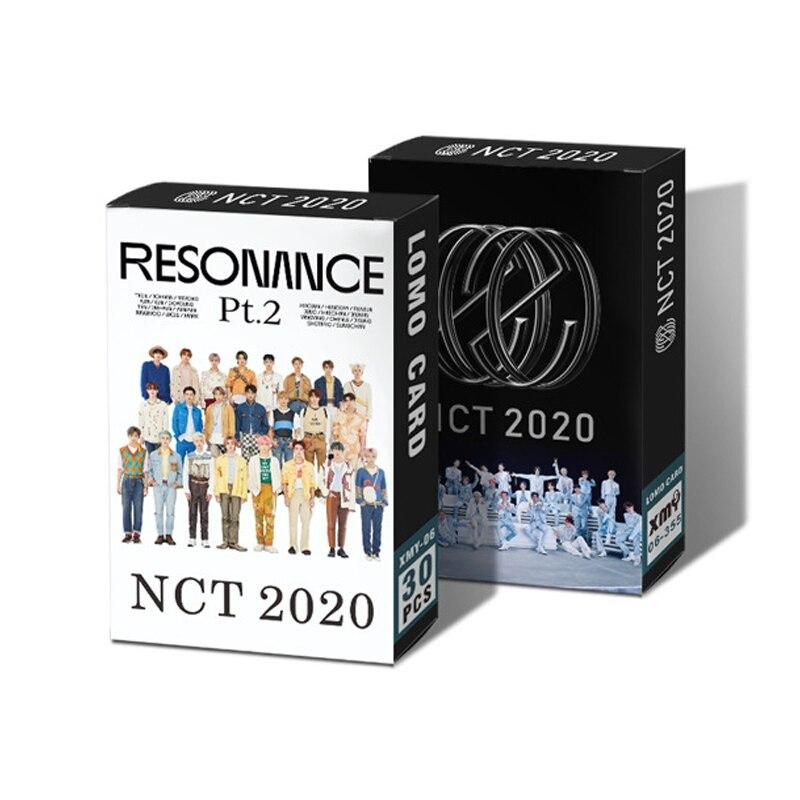 30 шт./компл. Kpop NCT 2020 NCT мечта дважды ломо карты K-pop два глаза широкие открытые высококачественные HD фотокарты карты 86*54 мм