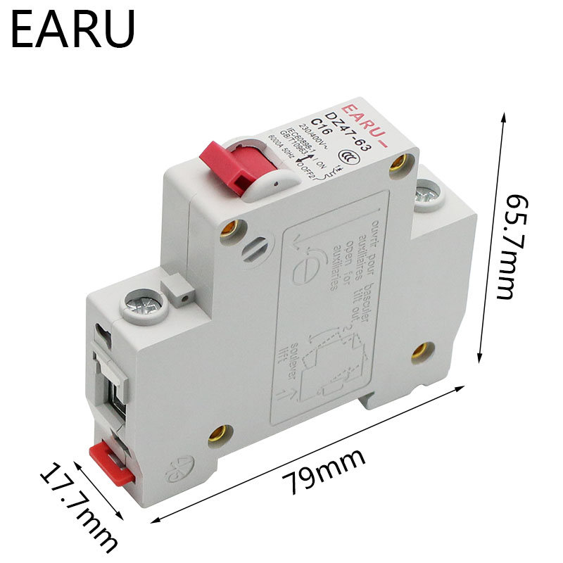 H579cc2f456694c08b47db25048dd26603 - DZ47 1-4 Pole 3A/6A/10A/16A/20A/32A/40A/50A/63A 400V C Type Mini Circuit Breaker MCB 35mm Din Rail Mount Breaking Capacity 6KA