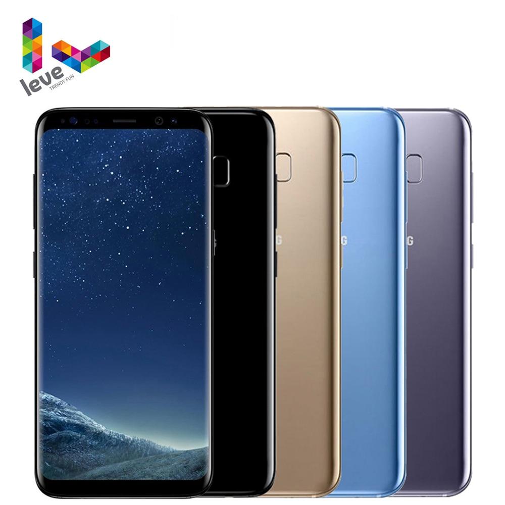 Samsung-teléfono inteligente Galaxy S8 G950, teléfono móvil libre con procesador Snapdragon 835, pantalla de 5,8 pulgadas, 4GB RAM, 64GB ROM, Octa Core, reconocimiento de huella dactilar, 4G LTE, Android