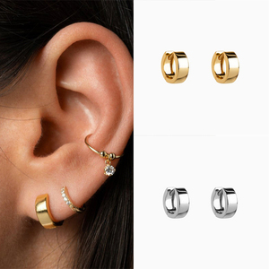 ROXI Hot Sale S925 Sterling Silver Glossy Earrings Metal Round Wholesale Jewelry For Women