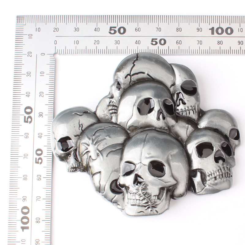 Skull skeleton belt buckle Belt DIY accessories Western cowboy style Smooth belt buckle Punk rock style k25