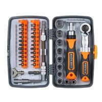 38pc precisão catraca chave de fenda conjunto bit chave de fenda magnética kit ferramenta reparo eletrônica para o telefone portátil relógio