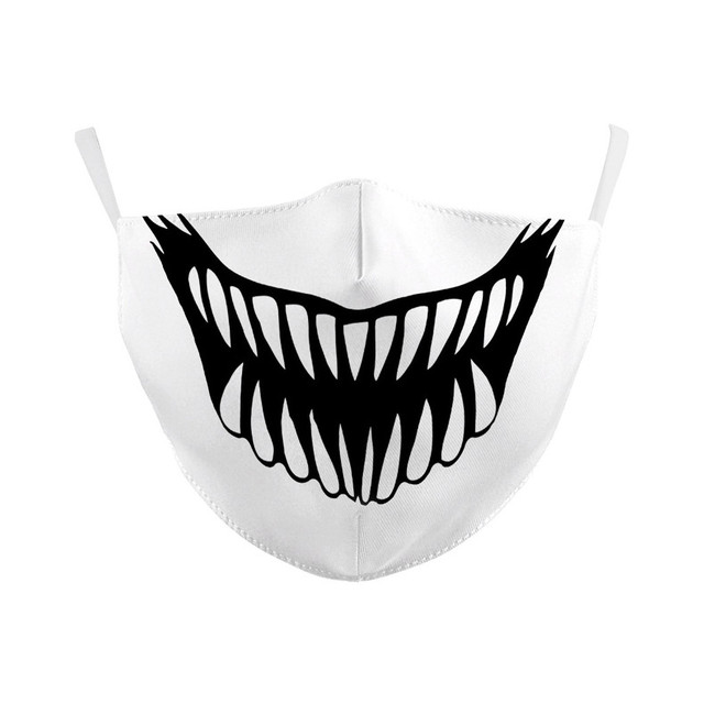 Reusable Cotton Dust Protection Mask Cartoon Face Masks Men Women Boy Girls Kids Funny Expression Mouth Muffle Cover 7.16 1