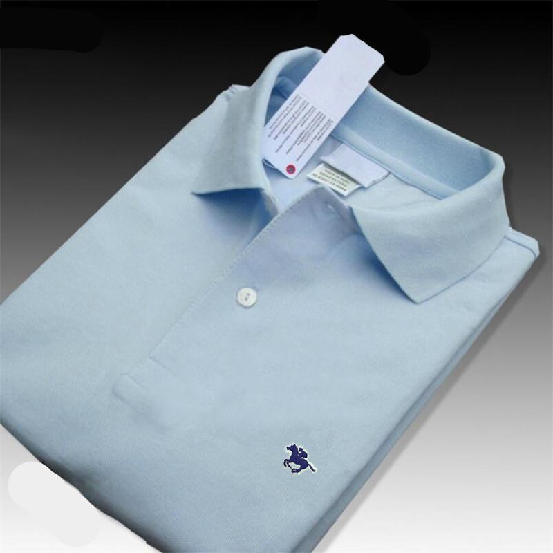 XS-4XL Summer New style Men's short sleeve polos shirts 100% cotton casual solid color lapel mens polos shirts fashion mens tops