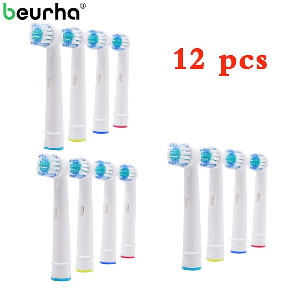 12pcs 4pcs Replacement Tooth Brush Heads For Oral B D12,D16,D29,D20,D32,OC20,D10513, DB4510k 3744 3709 3757 D19 OC18 D811 D9525