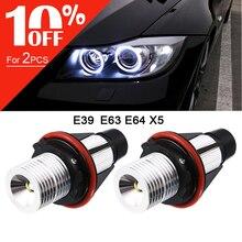 2 sztuk/partia 2*5W 10W dla Bridgelux LED chipy LED Marker anioł oczy biały niebieski czerwony żółty pasuje do BMW X5 E39 E53 E60 E61 E63 E64