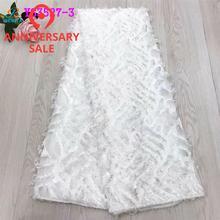 Белый хлопок кружево вышивка ткань вышивка маленький перо Свадебная вечеринка ткань