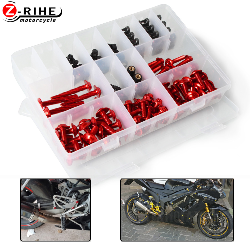 Universal CNC aluminum Motorcycle Accessories Fairing body work Bolts Screws moto parts For Honda CBR1000RR CBR 1000 RR all year image