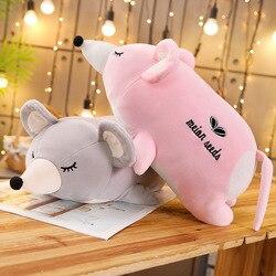 Suave y adorable ratón de peluche muñeca linda pareja ratón muñeca almohada grande gran rata muñeco del zodiaco chino regalo