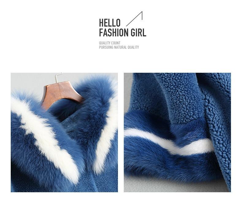 Real lã casaco feminino 2020 jaqueta de