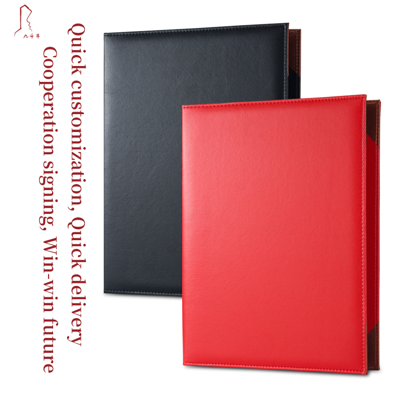 Custom A4 Size Certificate Holder Cover Authenticity Appreciation Appoinment Leatherette Signature Folder WIth Logo