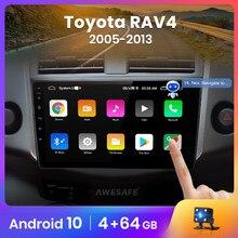 AWESAFE – autoradio PX9 Android 10, Navigation GPS, DVD, sans 2 din, lecteur multimédia vidéo, pour voiture Toyota RAV4 3, RAV4 (2005 – 2013)