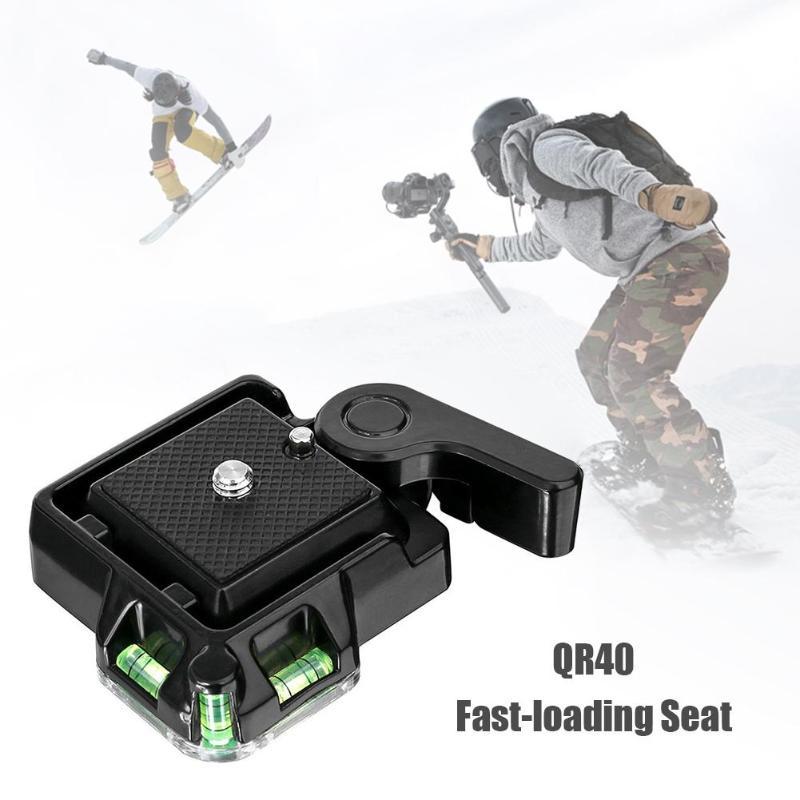 Быстросъемная площадка для штатива видеокамеры с шариковой головкой для DSLR камеры QR40 1/4 3/8 винт