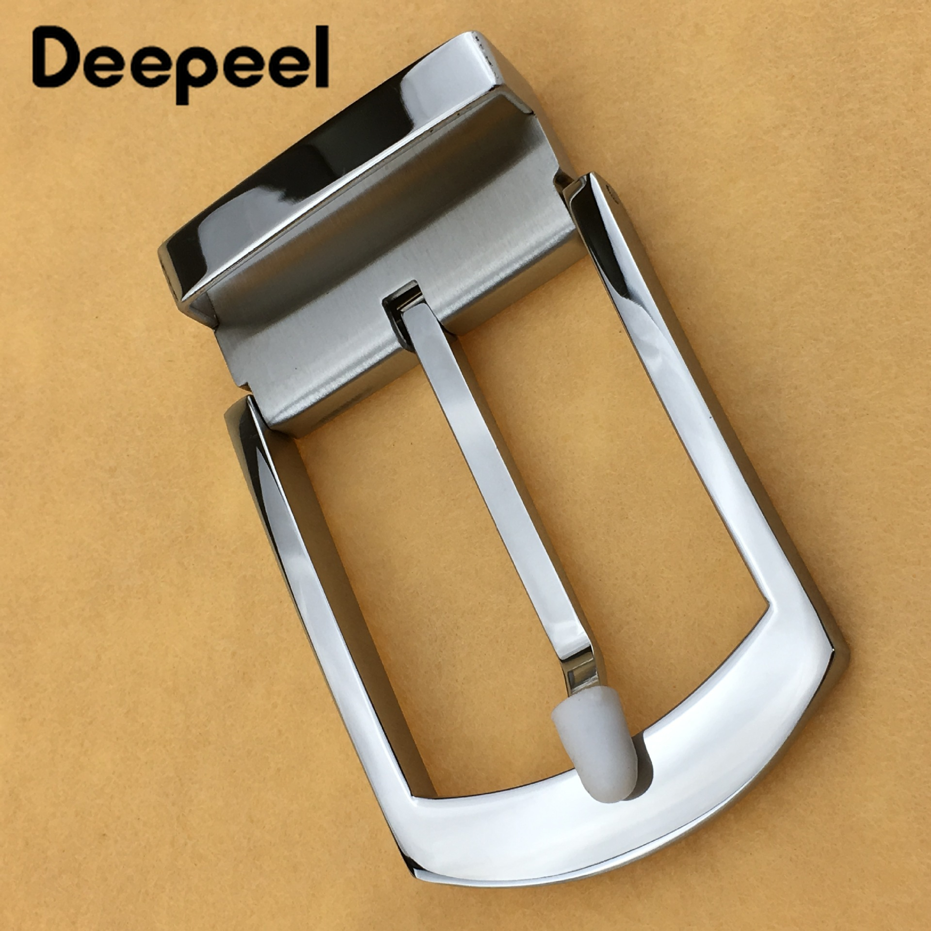 Deepeel 1pc Wide 40mm Men's Stainless Steel Pin Buckle High Quality Belt Buckle Accessories For Men Detachable Buckle YK763