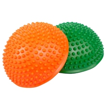 Yoga Ball Semicircle Shape PVC Muscle Relaxing Yoga Fitness Accessories For Foot Back Waist foot rocker calf ankle plantar muscle stretch board for achilles tendinitis sports yoga massage fitness pedal stretcher hot sale
