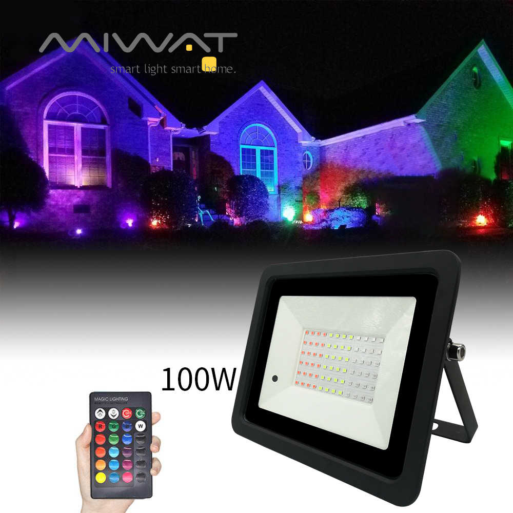 110 V/220 V RGB Lampu Sorot LED 20W 30W 50W 100W Outdoor Lampu Wall Washer reflektor IP68 Tahan Air Lampu Taman RGB Flood Light