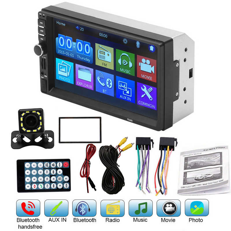 "Mobil Multimedia Player Autoradio 2din Android Mirrorlink 7 ""Mp5 Player Stereo Layar Sentuh Video Mobil Radio Audio Bluetooth Player"