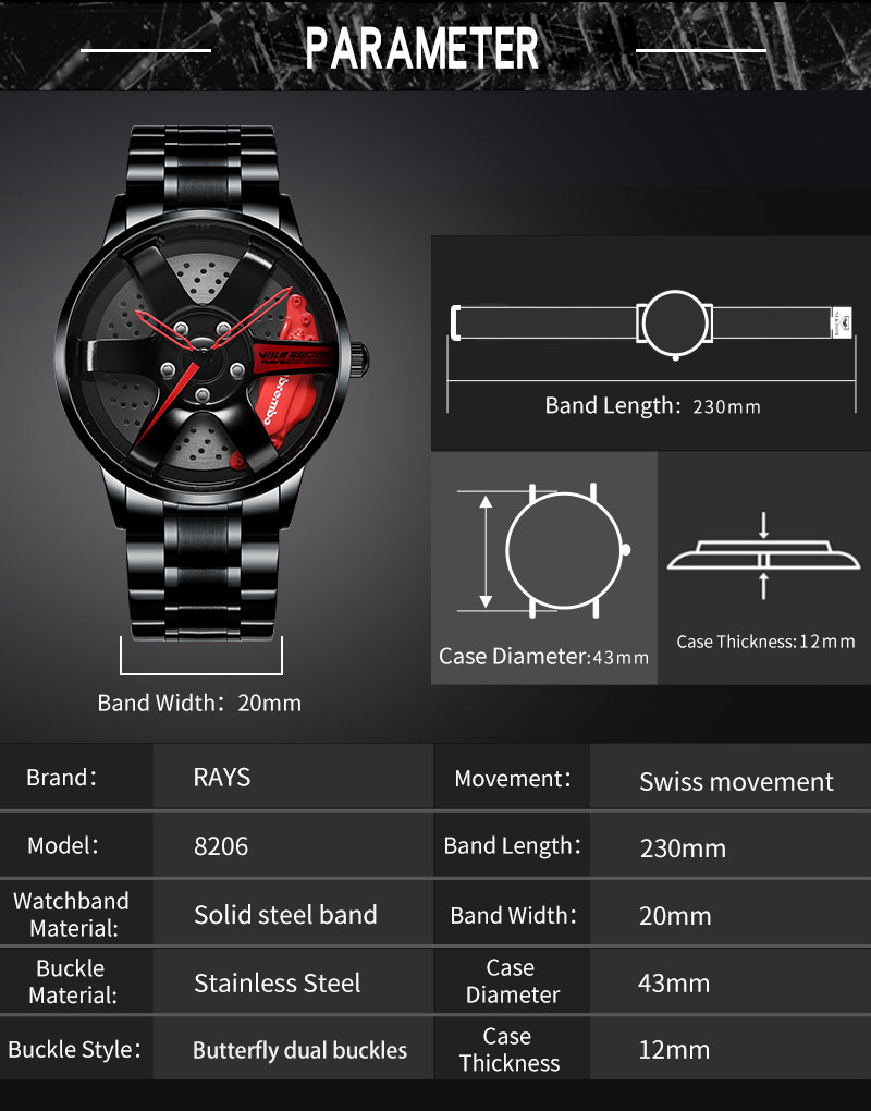 H579e55f8828545bd9a50ec271ef60251G NEKTOM Men's Watch Waterproof Sport Watch