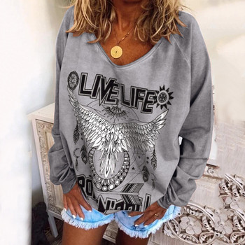 2020 New Womens Hoodied Plus Size Hippe Animal Oversized Printed Sweatshirts Tops Ladies Casual Baggy худи женское свитшот image