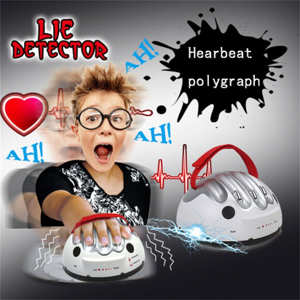 Polygraph Test Tricky Funny Adjustable Adult Micro Electric Shock Lie Detector Shocking Liar Truth Party Game Gifts Electro Toy