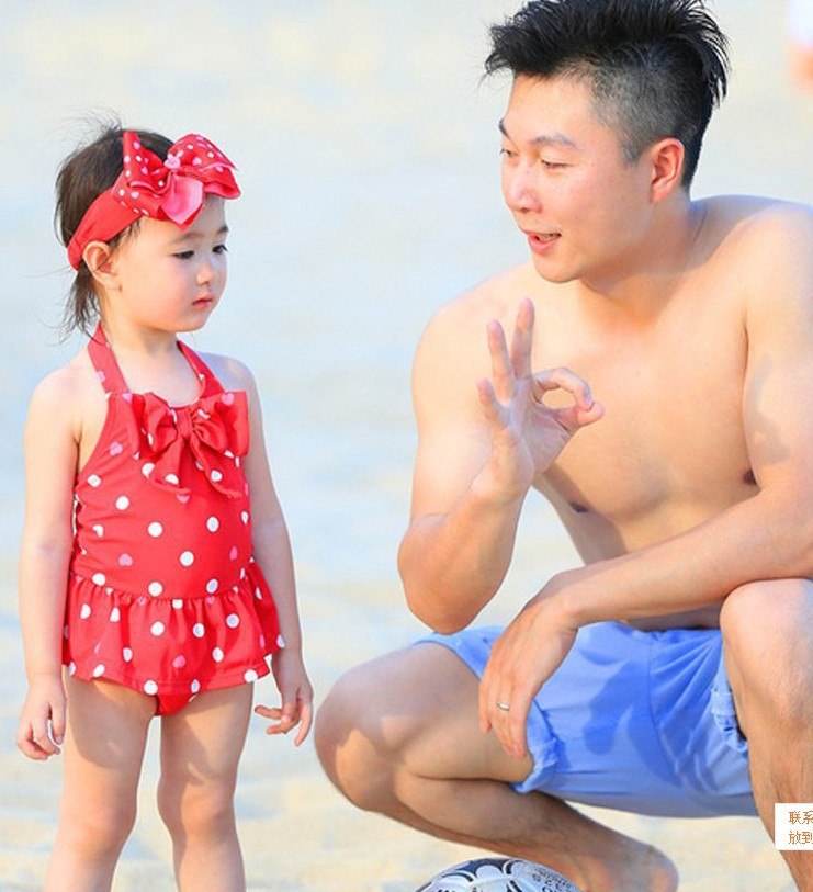 Ollie Celebrity Style Bathing Suit Peach Heart Children Dress-Tour Bathing Suit Young Children Small CHILDREN'S Baby Girls Hot S