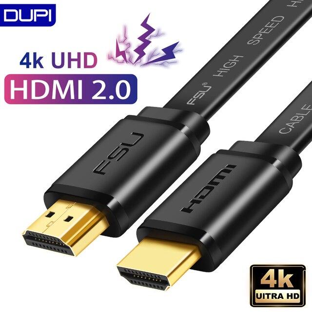 כבל HDMI 2.0 ספליטר 4k 1080P HD בחדות גבוהה HDMI ל HDMI כבל כבל switcher 1M 2M 3M שטוח קו עבור מתג מחשב