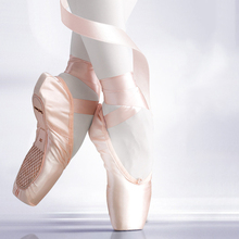 Pointed Shoes Bandage Ballet Dance Shoes Girl Professional Canvas/Satin Dance Shoes with Silicone Toe Pads Women Shoes Flats canvas ballet pointe shoes girls women ladies professional ballet shoes with silicone toe pads