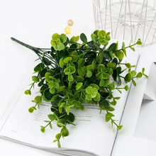 Artificial Plant Eucalyptus Leaves Plastic Green Plants Fake Eucalyptus Leaves DIY Home Wedding Forest Style Decorations