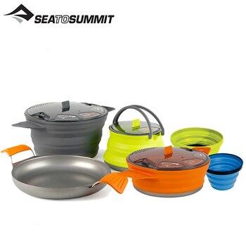 SEATOSUMMIT folding pot camping picnic supplies lightweight portable equipment outdoor pot wild survival pot