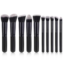 цена на 10Pcs Makeup Brushes Tools Powder Brush Eye Brush Eyeshadow Brush Foundation Brush Makeup Brush Set Professional Comestic Tool
