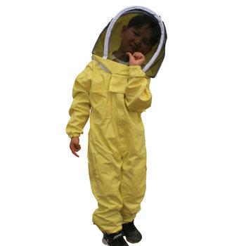 Dzieci Anti-bee garnitur narzędzia pszczelarskie Kid odzież pszczelarska oddychający garnitur dla dzieci praktyka pszczelarska tanie i dobre opinie Bawełna organiczna yellow 380g beekeeping beekeeping suit apiculture tools childen