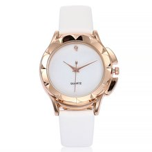 Dial And Strap Same Color Quartz Watch Fashion Hours Leather Strap Bracelet Wris