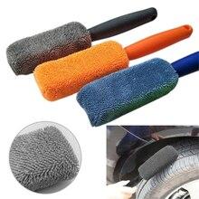 1 Pc Auto Suv in Microfibra Gomma Della Rotella Rim Spazzola di Lavaggio Auto di Alta Qualità di Lavaggio Cleaner Manico in Plastica per Il Lavaggio Auto accessori