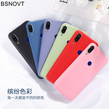 For Vivo Z5x Case V1911A V1919A Soft TPU Silicone Candy Color Shockproof Back Cover 6.53 BSNOVT