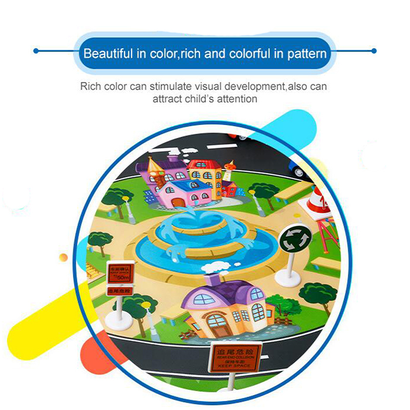 H579fb9e6a1804bf6809836e6f46328d9u Large City Traffic Car Park Mat Play Kids Rug Developing Baby Crawling Mat Play Game Mat Toys Children Mat Playmat Puzzles ZXH